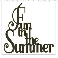 Fun in the summer 100 x 100  pack of 5